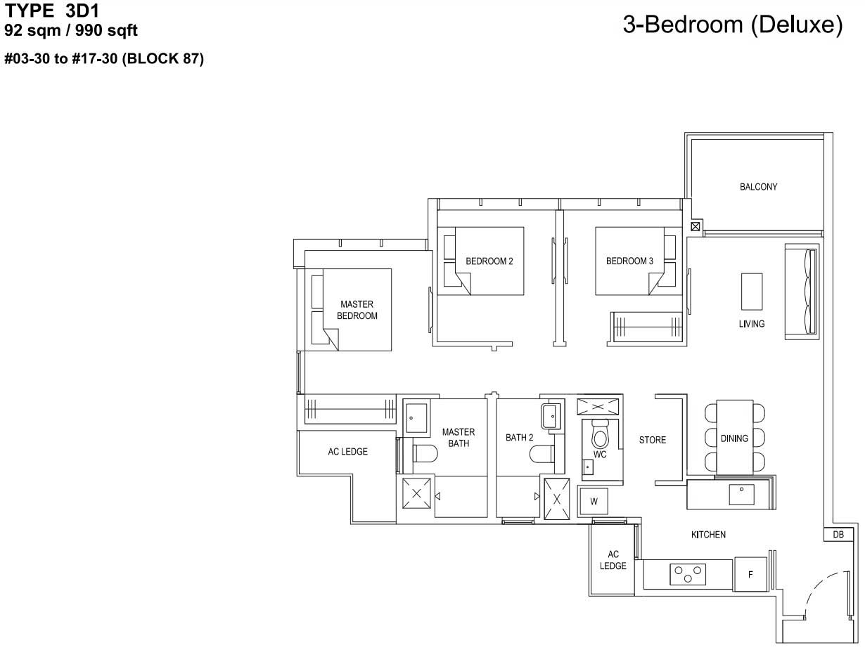 The Florence Residences Floorplan