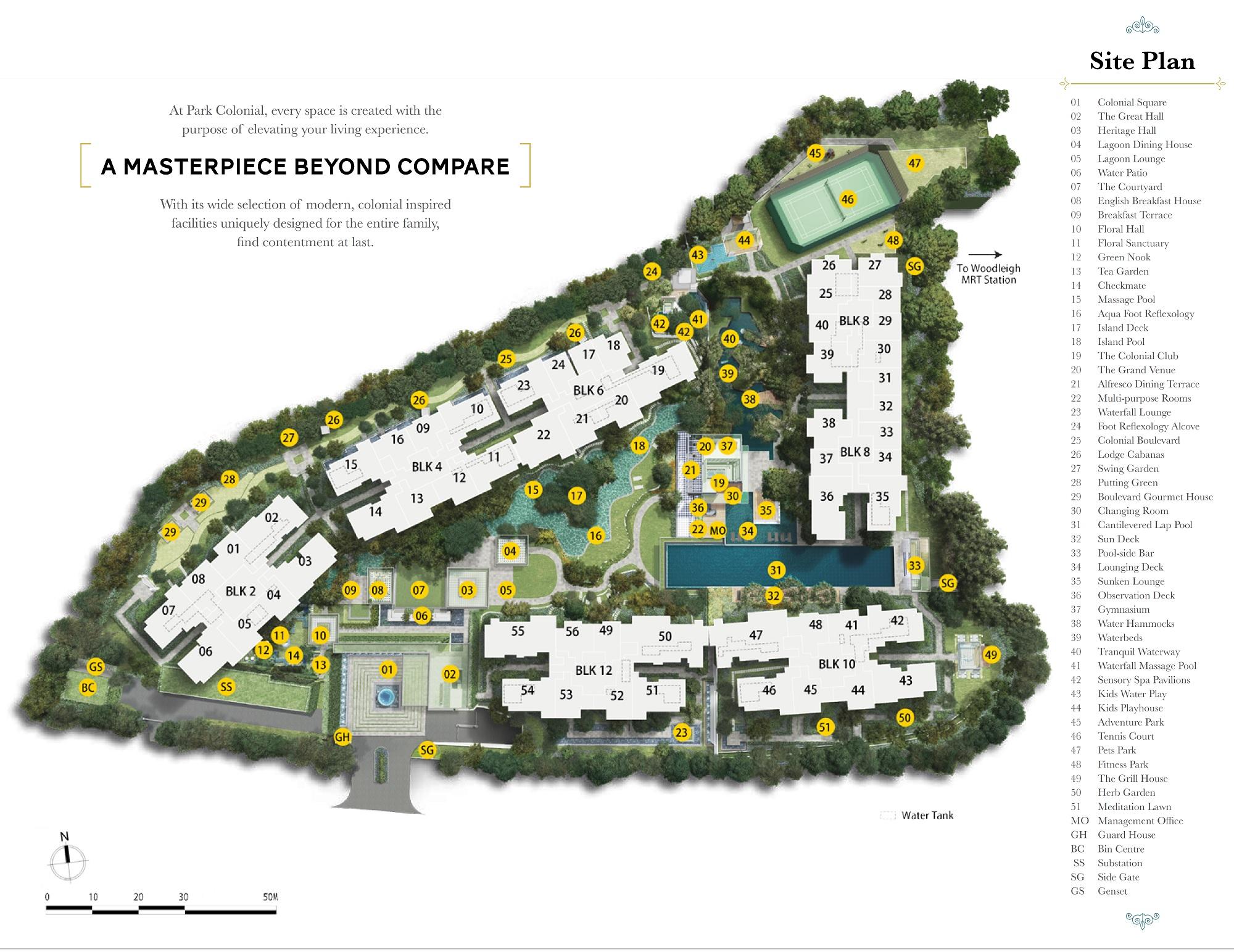 Park Colonial Siteplan