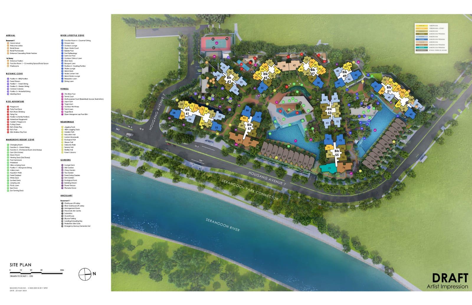 Riverfront Residences Siteplan