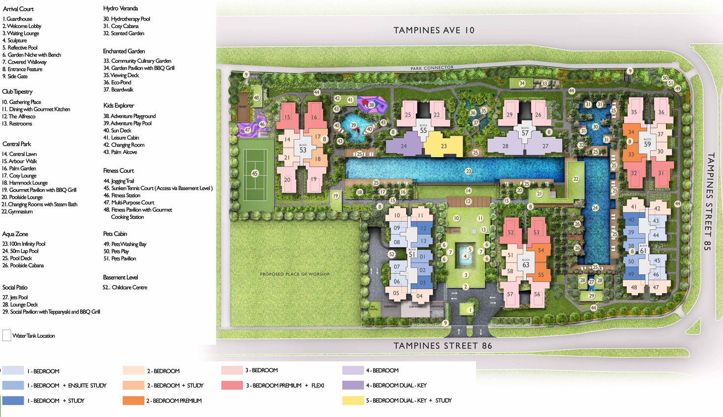 The Tapestry Siteplan