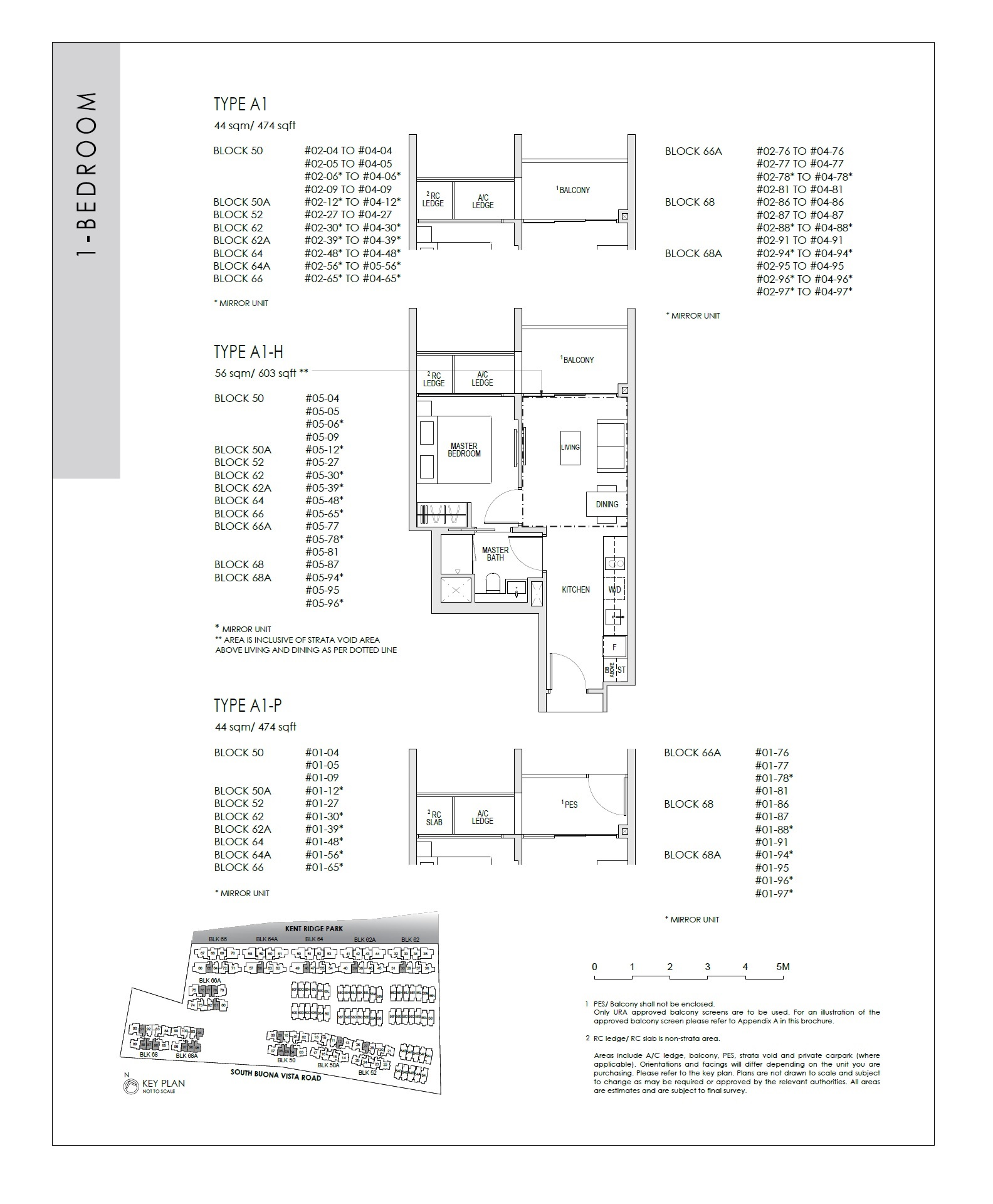 Kent Ridge Hill Residences Floorplan