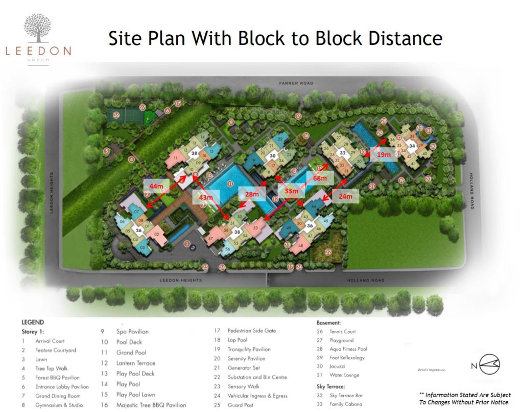 Leedon Green Siteplan