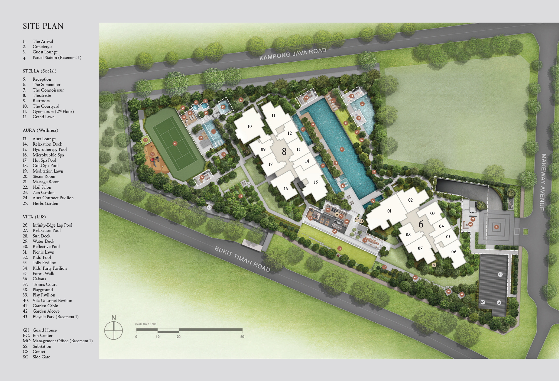 Kopar at Newton Siteplan